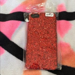Accessories - iPhone 7/8 red glitter case